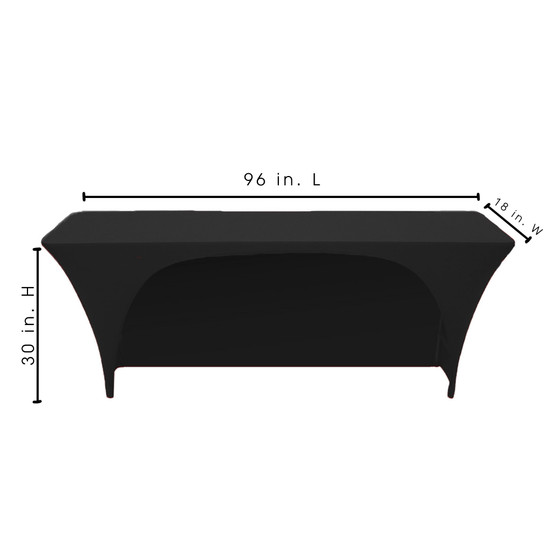 8 Ft x 18 Inches Open Back Rectangular Table Covers