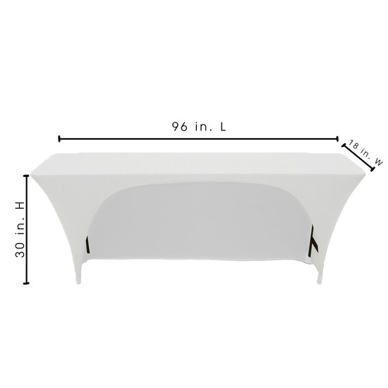Classroom style 8 ft. table covers