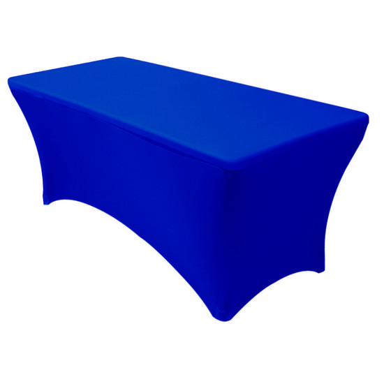 Stretch Spandex 6 Ft Rectangular Table Covers Royal Blue