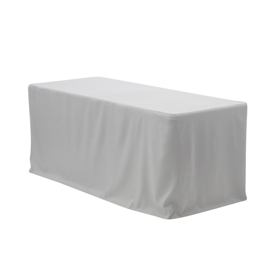 6 ft Fitted Rectangular Polyester Tablecloths Gray