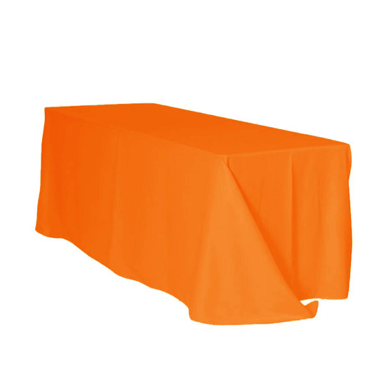 90 x 132 Inch Rectangular Polyester Tablecloth Orange