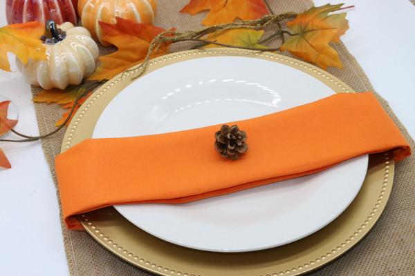 Cloth Napkins Orange
