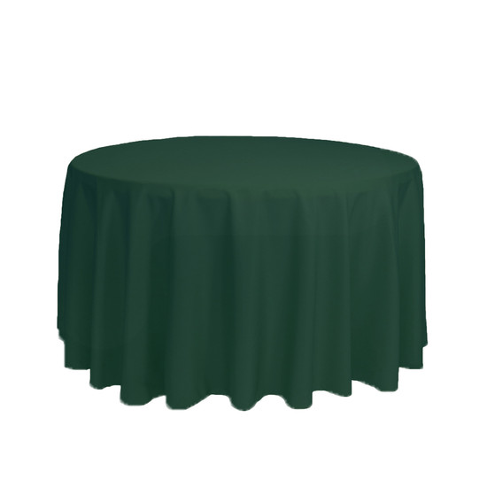 108 inch Round Polyester Tablecloth Hunter Green