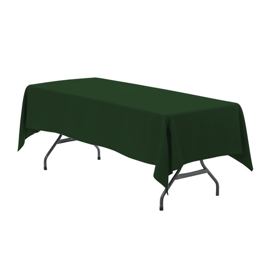 60 x 102 inch Rectangular Polyester Tablecloth Hunter Green