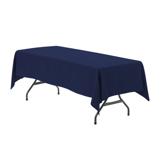 60 x 126 inch Rectangular Polyester Tablecloth Navy Blue
