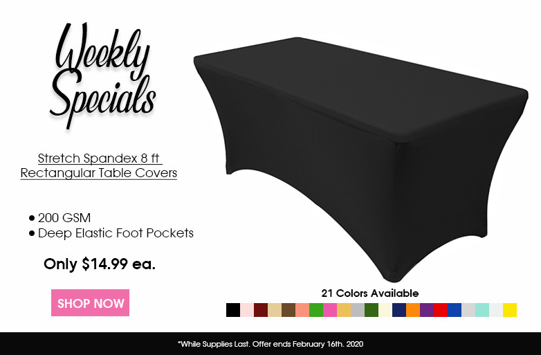 Spandex 4ft. rectangular table covers