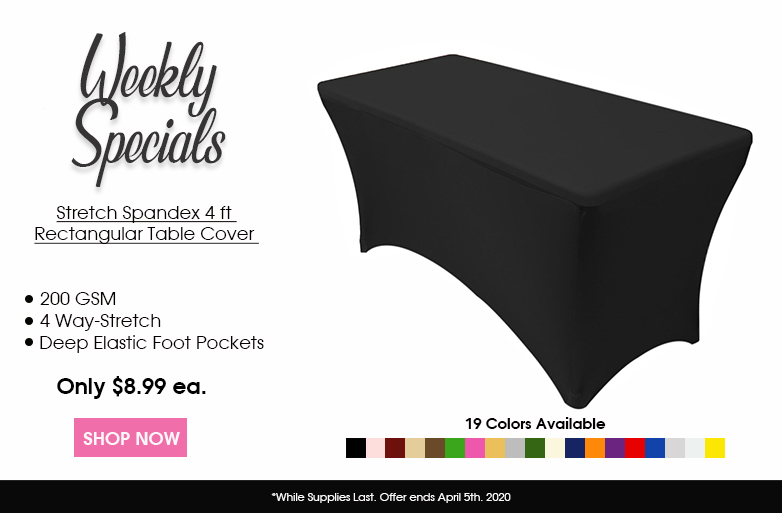 Spandex 4 ft table covers
