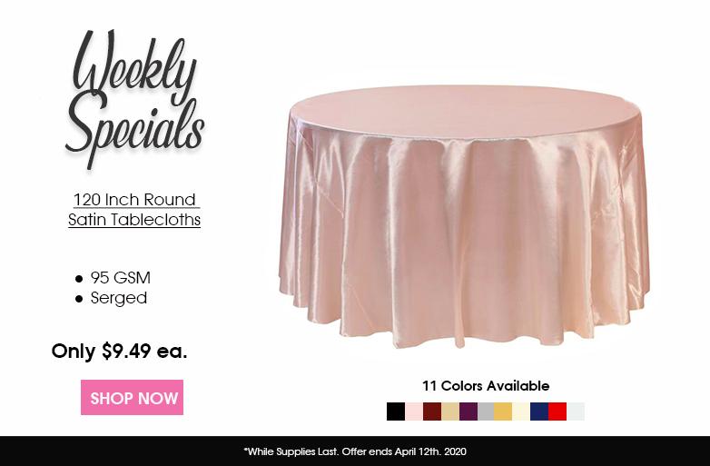 Satin Round Tablecloths