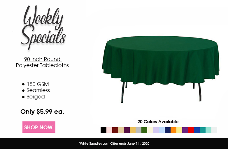 Polyester 90 inch round tablecloths