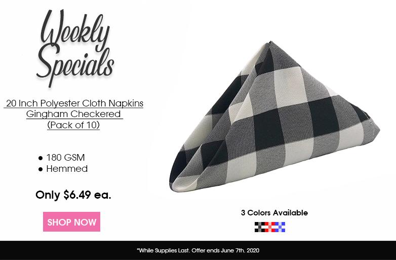 Polyester Checkered Napkins