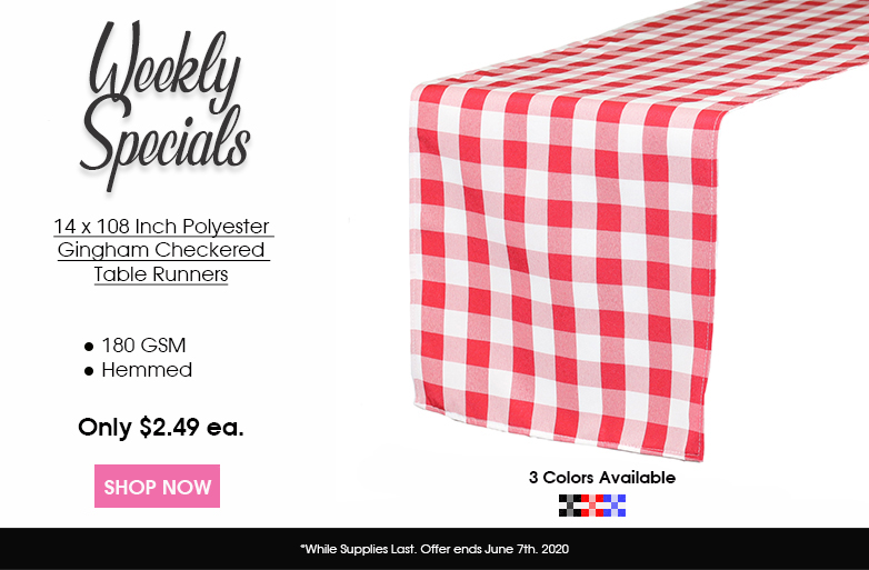 Polyester Checkered Table Runners