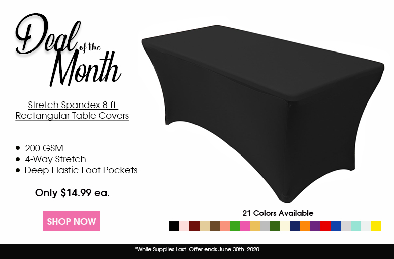 Spandex 8 ft. Rectangular Table Covers