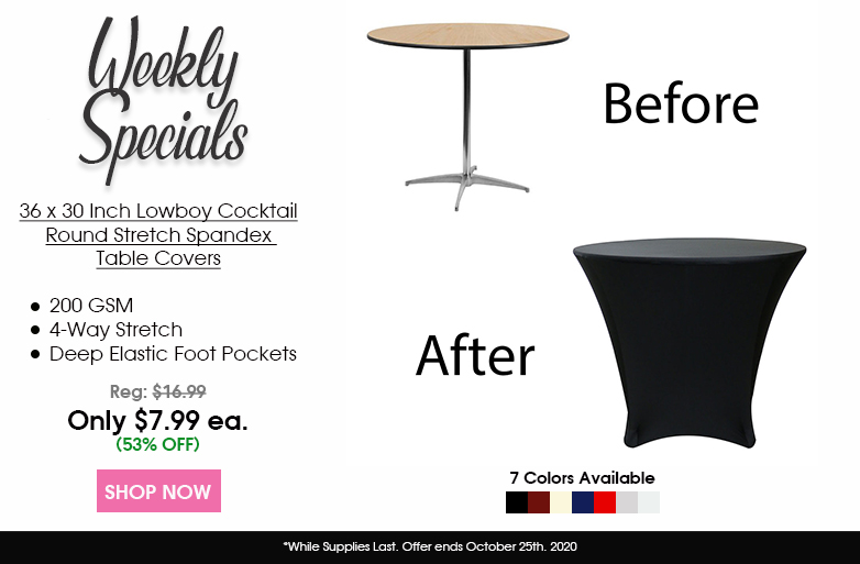 spandex 36 x 30 inch lowboy table covers