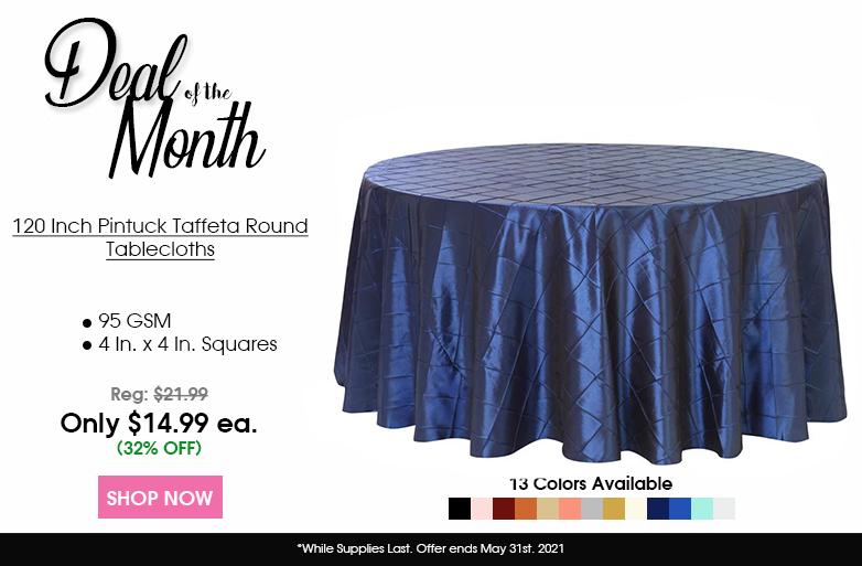 Pintuck Taffeta Tablecloths