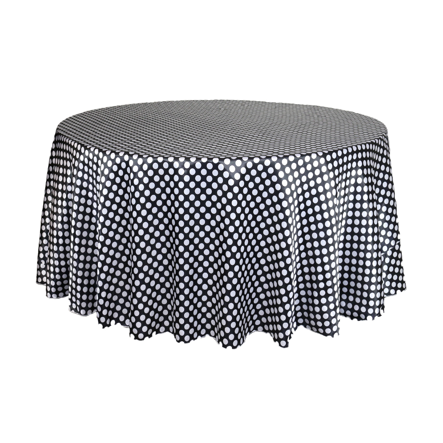 Cotton Table Cloth Polka Dots  Spots Small Dots White on Navy