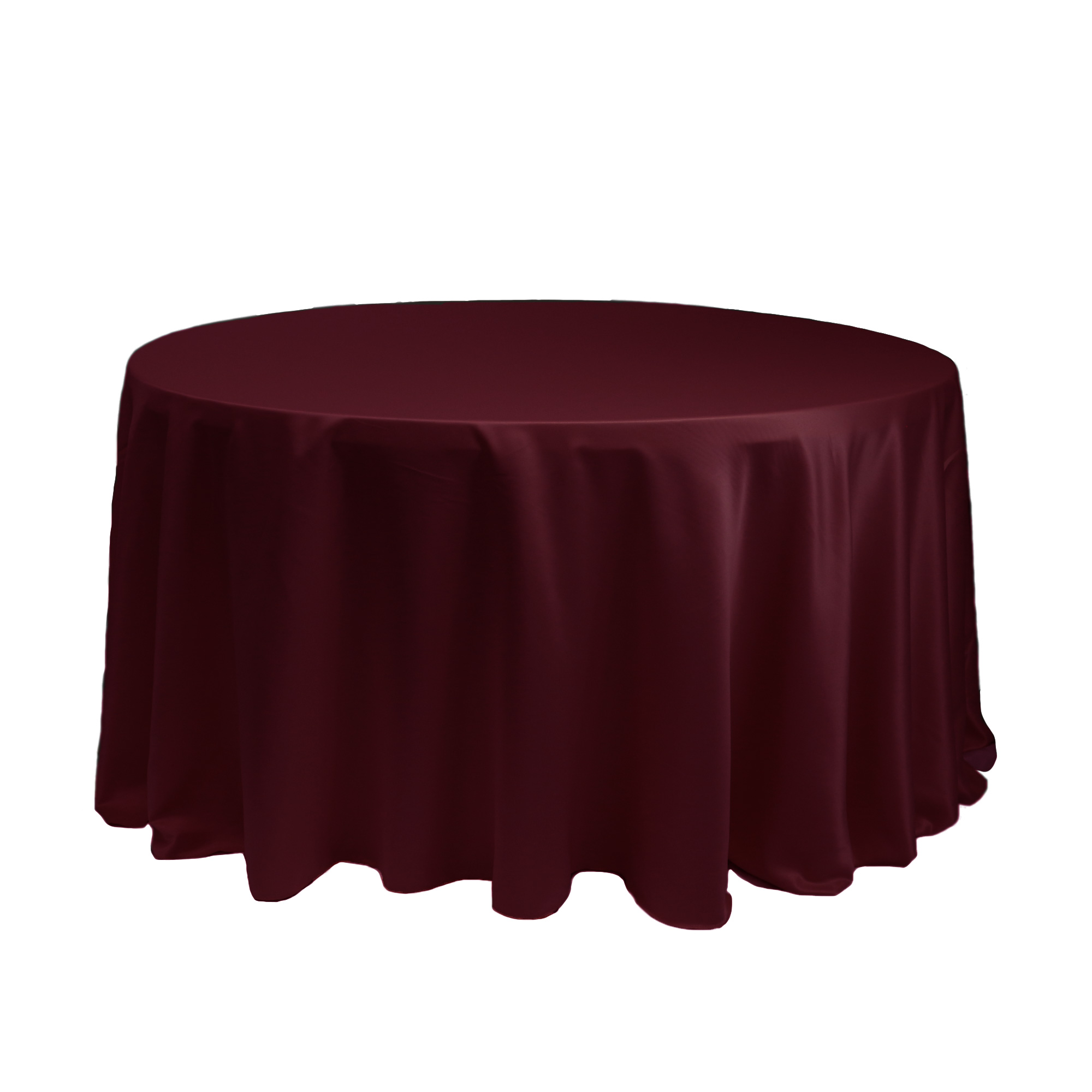 """10 Pack 120/"""" Inch round Satin Tablecloth 21 COLORS Table Cover Wedding Banquet"""