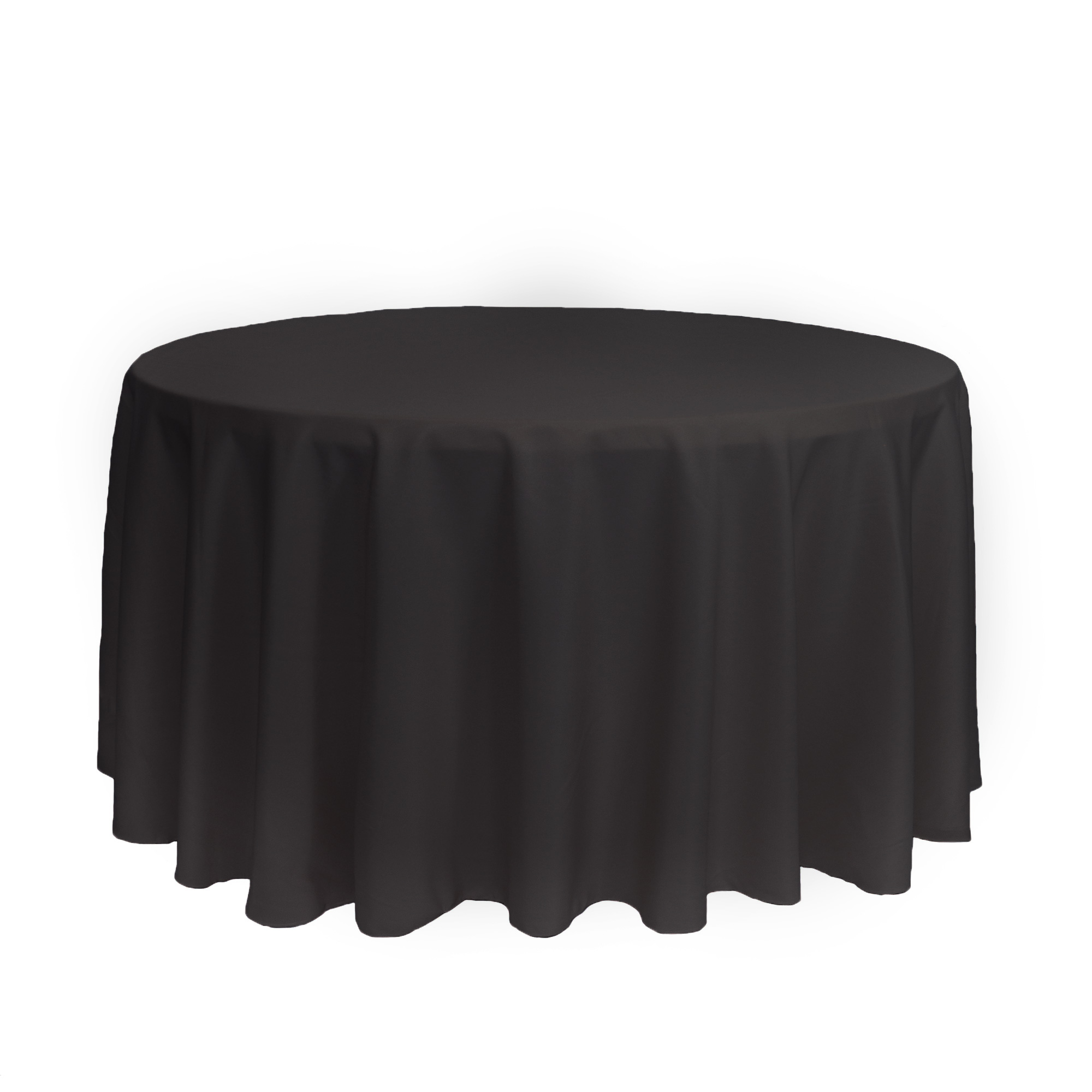 120 Inch Round Polyester Tablecloth Black Your Chair Covers Inc