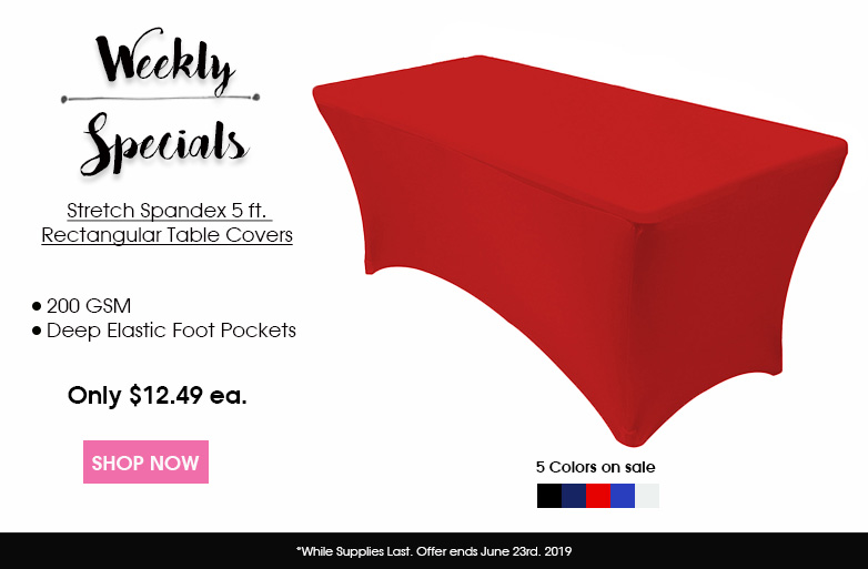5 ft rectangular spandex table covers