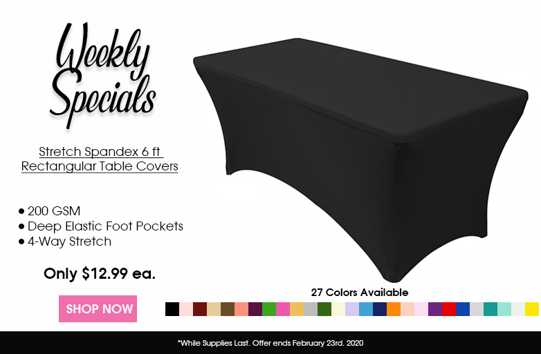 6 ft spandex table covers