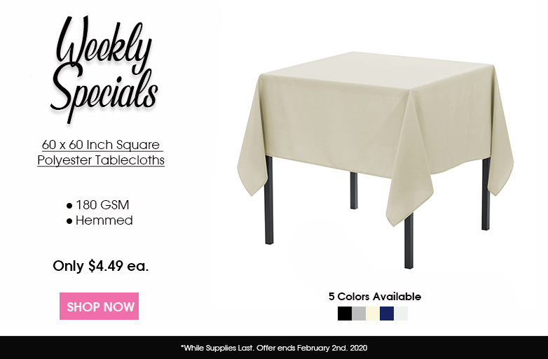 Polyester Square Tablecloths