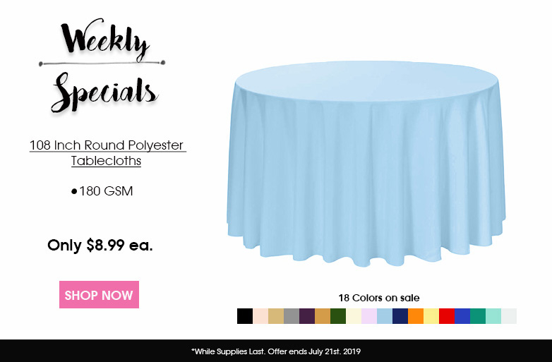 108 inch Round Polyester Tablecloths