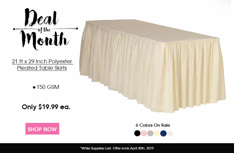 Polyester Table Skirts