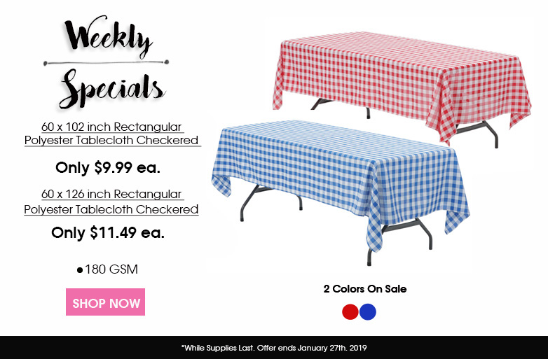 Polyester Checkered Tablecloths