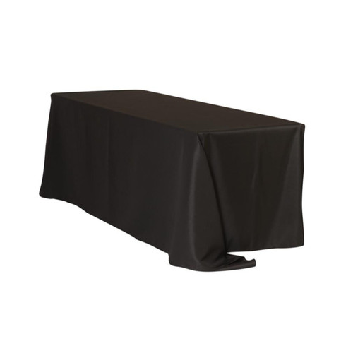 90 X 156 Inch Rectangular Polyester Tablecloth Black