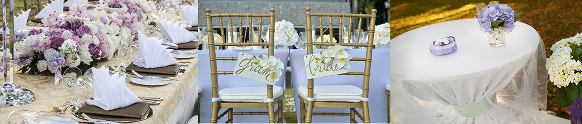 chair covers and tablecloths
