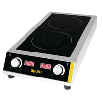 GF239-A Apuro Heavy Duty Double Induction Cooktop 7kW