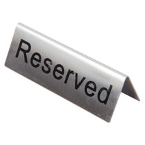 U051 Olympia Stainless Steel Table Sign - Reserved (Pack of 10)