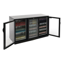 GL004-A Polar G-Series Counter Back Bar Cooler with Hinged Doors 330Ltr