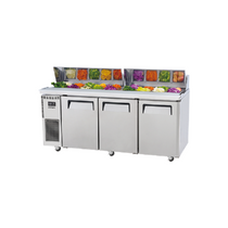 Skipio Salad Side Prep Table 3 Doors with Hood Lid 702 Lt