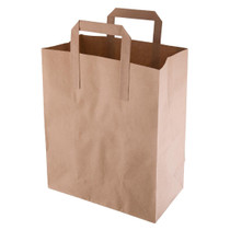CF591 Fiesta Green Recycled Brown Paper Carrier Bags Medium (Pack of 250)