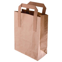 CF592 Fiesta Green Recycled Brown Paper Carrier Bags Large (Pack of 250)