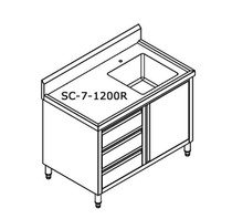 SC-7-1200R-H Cabinet with Right Sink 1200mm Width