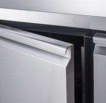 XSS8C15S2V FED-X S/S Two Door Sandwich Counter 390 Litre 1510mm Width