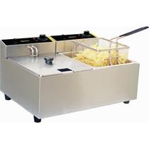 DL891-A Apuro Double Pan Bench Top Fryer 2 x 5 Ltr