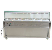 PG210FE-YG Heated Bain Marie Food Display 2140mm Width