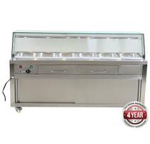 PG210FE-YG Heated Bain Marie Food Display 2140mm Width