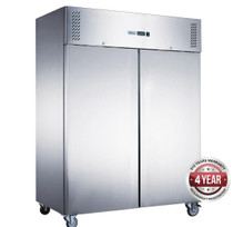 XURF1200SFV FED-X S/S Double Door Upright Freezer 1200 Litres