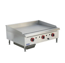 GG-36 Three burner Natural Gas Griddle Top 915mm W x 761 D x 412 H