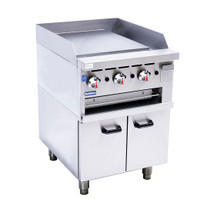 GGS-24 Gas Griddle and Gas Toaster with Cabinet 3 Burner