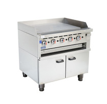 GGS-36 Gas Griddle and Gas Toaster with Cabinet 5 Burner