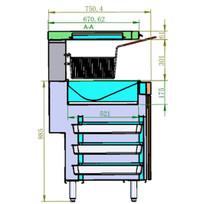 VX15E Fryer Mate Chip Warming Station
