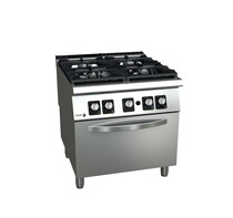 C-G941H Fagor 900 Series Gas 4 Burner with Gas Oven 800mmW x 930 D x 850 H