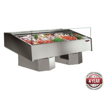 FSG1500 Multiplexable Serve-over Refrigerated Fish Open Display 1540mm