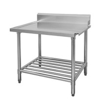WBBD7-2400R/A All Stainless Steel Dishwasher Bench Right Outlet 2400mm Width