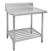 WBBD7-2400L/A All Stainless Steel Dishwasher Bench Left Outlet 2400mm Width