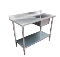 1500-6-SSBR Economic 304 Grade SS Right Single Sink Bench 1500x600x900 with 500x400x250 sink